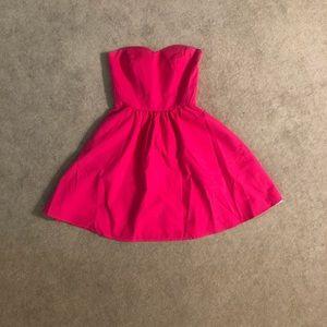 Lauren James Strapless Seersucker Dress small